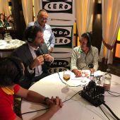 Jorge Garbajosa, Sergio Scariolo y Rudy Fernández en El Transistor