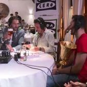 """Rudy interrumpe la entrevista a Garbajosa: """"¿Una cerveza? Quiero tomar lo mismo que el presi"""""""