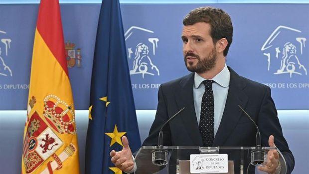 """Pablo Casado, critica a Sánchez: """"Yo no podría dormir tranquilo si hubiera pactado con Bildu"""""""