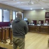 El acusado, durante la vista oral que se ha celebrado en la Audiencia de Ciudad Real