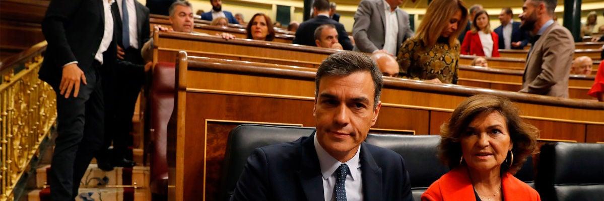 Sánchez se aleja de ERC y avisa de que aplicará el 155 ante cualquier intento de violentar el Estatuto y la Constitución