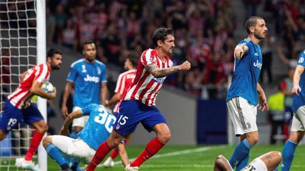 Savic celebra el gol ante la Juventus