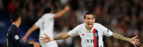 Di María celebra uno de sus goles contra el Real Madrid