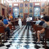 Alberto Jarabo, Portavoz de Cort, en el acto de escrutinio de los presupuestos participativos.