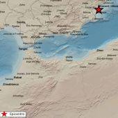 Mapa de la zona del epicentro de uno de los terremotos registrados en Santa Pola.