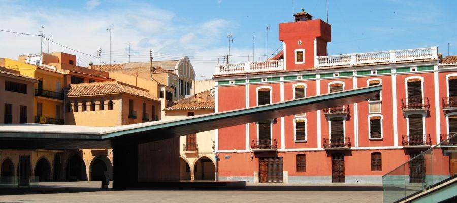 Imatge de la superficie del pàrquing de la plaça Major .