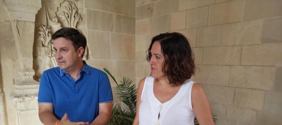 Eduardo García-Ontiveros y Eva Crisol, de Ciudadanos Elche.