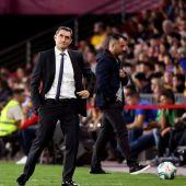 El entrenador del Barcelona, Ernesto Valverde.