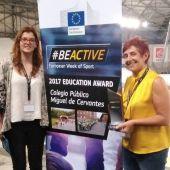 El CP Miguel de Cervantes, premio BeActive en 2017, participará en la Cumbre Europea de la Educación
