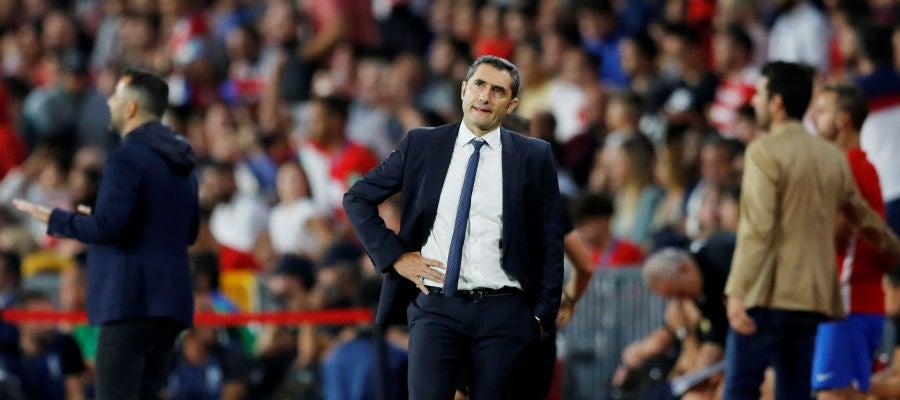Ernesto Valverde, durante el partido contra el Granada