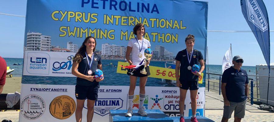 Ángela Martínez, medalla de plata en la Mediterranean Swimming Open.