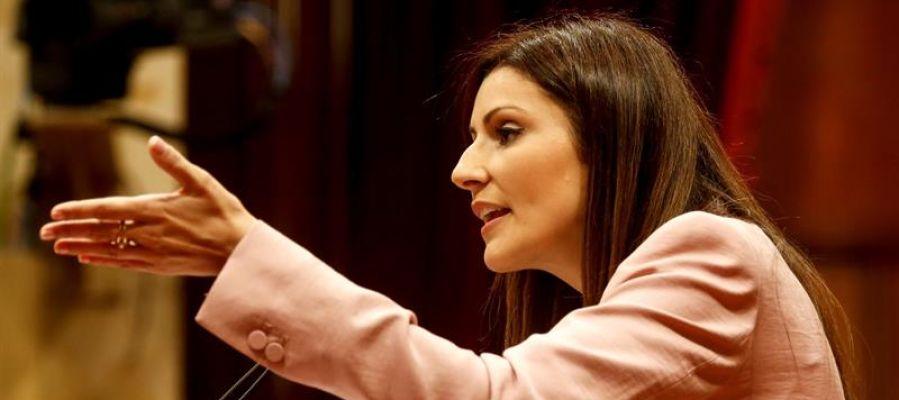 La líder y portavoz grupo parlamentario de Ciudadanos, Lorena Roldán