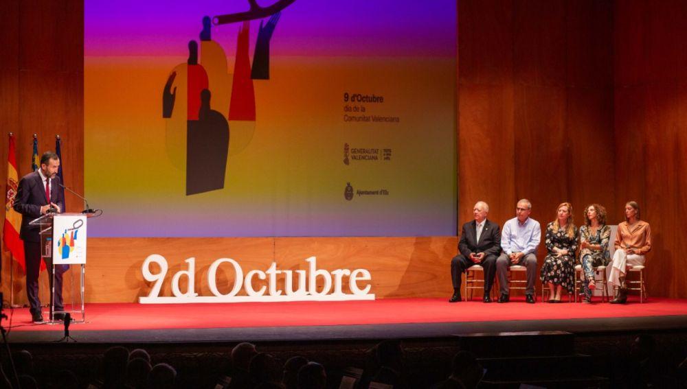 Acto del Día de la Comunitat Valenciana en el Gran Teatro de Elche.