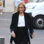 La expresidenta madrileña Cristina Cifuentes, a su llegada a la Audiencia Nacional.