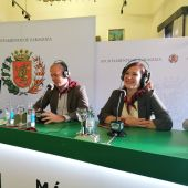 Alcalde de Zaragoza, Jorge Azcón, y Sara Fernández, Vicealcaldesa y consejera de Cultura y promoción exterior