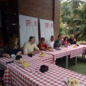 Ernest Blanch, secretario general del PSPV en la provincia de Castellón en la presentación de candidaturas en el Kiosko del parque Ribalta.