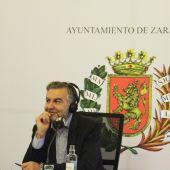 Carlos Alsina, en el Ayuntamiento de Zaragoza