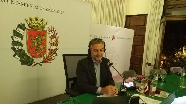 Carlos Alsina, desde el Ayuntamiento de Zaragoza