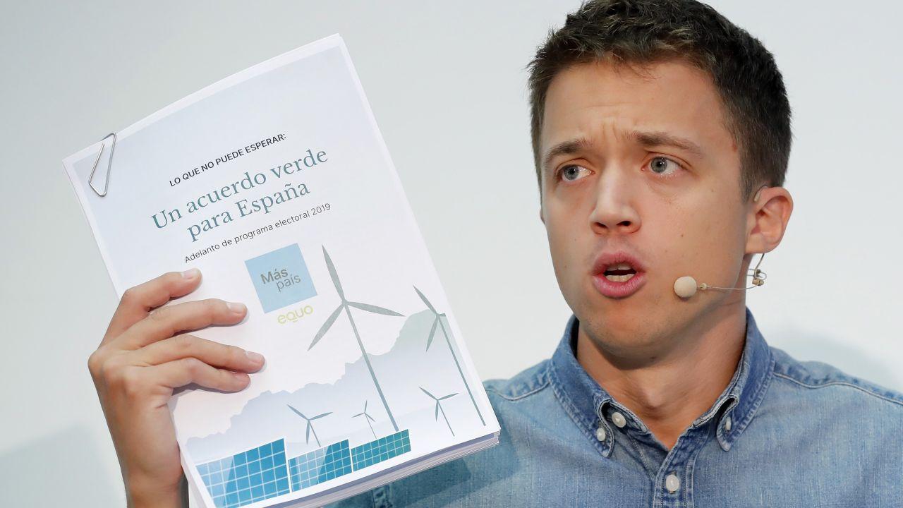 Íñigo Errejón propone una semana laboral de cuatro días en su programa electoral