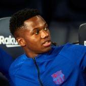 El jugador del FC Barcelona, Ansu Fati.
