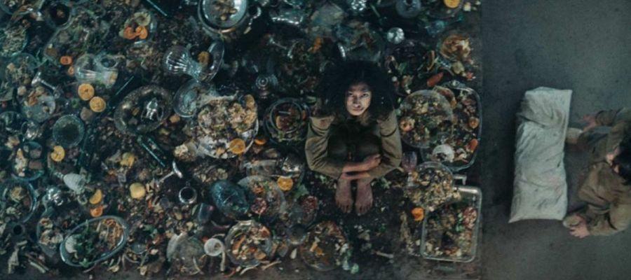 Imagen promocional de la película 'El hoyo', de Galder Gaztelu-Urrutia