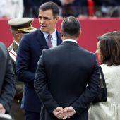 Pedro Sánchez en el desfile del 12 de octubre
