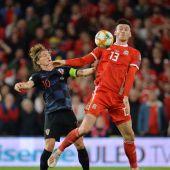 Luka Modric, en una acción del Croacia-Gales.