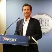 Biel Company, presidente y portavoz del PP en Baleares, en la rueda de prensa de iniciativas parlamentarias.