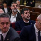 Jordi Sànchez y Jordi Cuixart durante el juicio del 'procés'