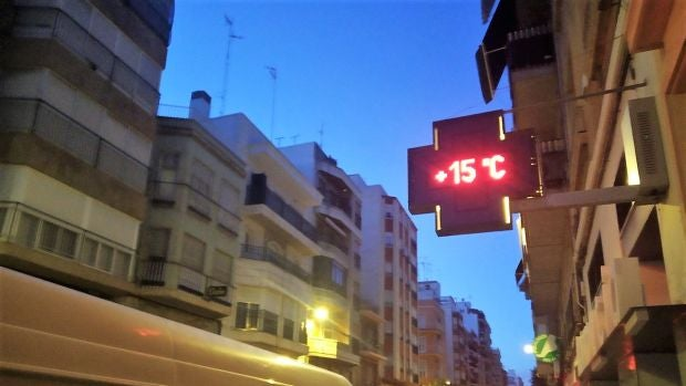 Termómetro en una calle de Elche.