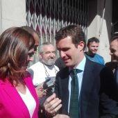 Pablo Casado, en su anterior visita a Ciudad Real en el mes de abril