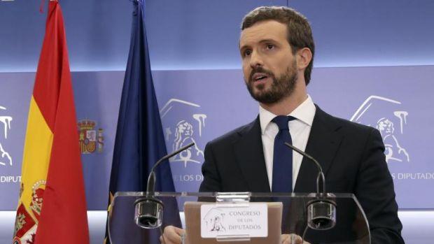 Casado sólo apoyará a Pedro Sánchez si el PSOE rompe con los independentistas