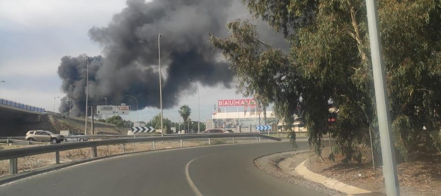 Incendio en el Polígono Guadalhorce
