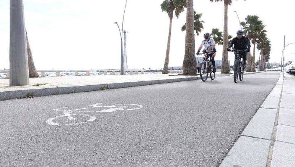 Carril bici de Cádiz