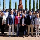 Ana Pastor, junto a dirigentes del PP de Castilla-La Mancha y de Ciudad Real