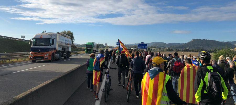 La marcha de Vic con dirección a Barcelona