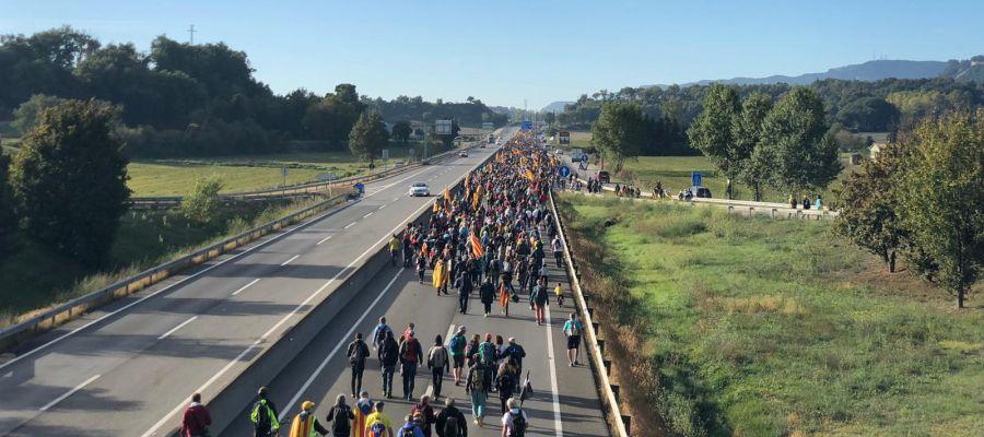 Las caminatas de ANC y Òmnium Cultural recorrerán 100km para confluir en Barcelona