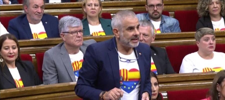 El portavoz de Ciudadanos en el Parlament Carlos Carrizosa