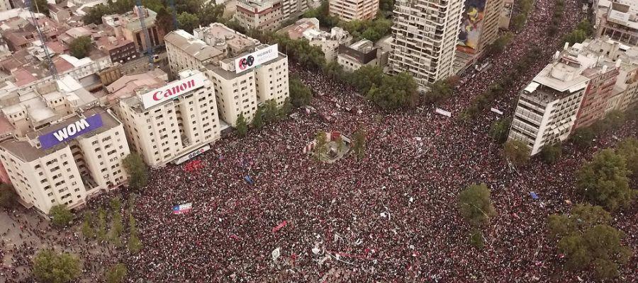 Imagen de la manifestación en Chile