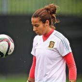 La entrenadora Ainhoa Tirapu.
