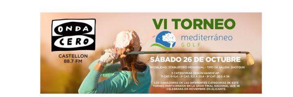 VI Torneo de golf Onda Cero Catellón - Mediterraneo Golf