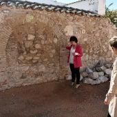 Zamora y Torralbo, frente al muro donde aparecieron restos arqueológicos