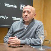 Luis Alegre, director del Festival Ópera Prima de Tudela, durante una rueda de prensa