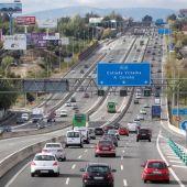 Autovía A-6 en Madrid, a la altura de Collado Villalba