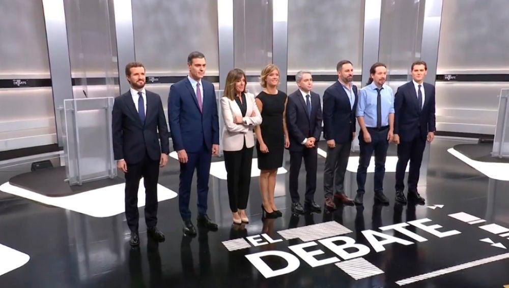 Elecciones generales 2019: Candidatos y moderadores del Debate electoral a cinco