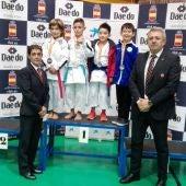 Daniel Miguez, de azul, medalla de bronce en la segunda jornada de la Liga Nacional de karate.