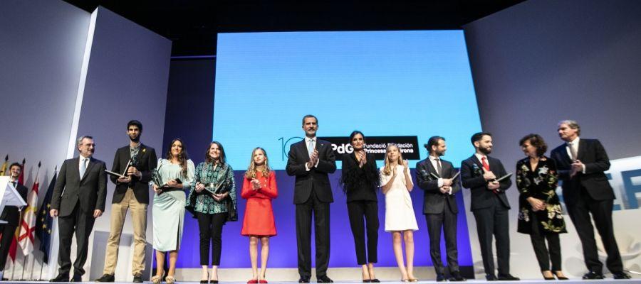 Gala de los premios de la Fundación Princesa de Girona.