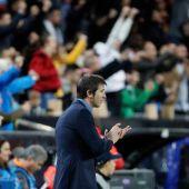 El entrenador del Valencia, Albert Celades.