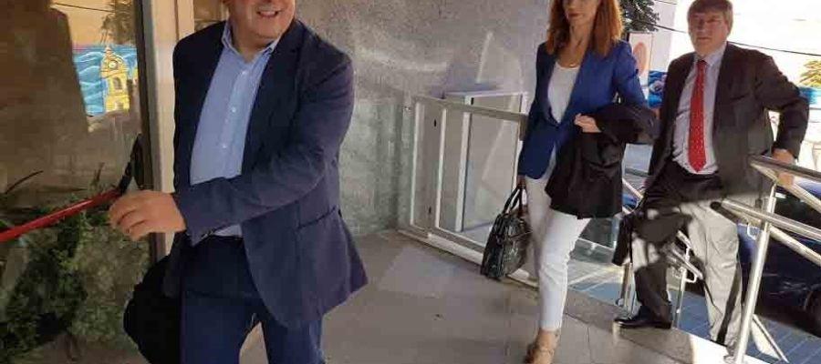 Joaquín Hermoso Murillo cuando asistió al juicio en la Audiencia de Ciudad Real