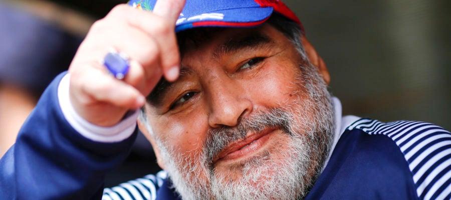 La leyenda del fútbol Diego Armando Maradona